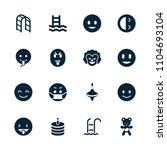 joy icon. collection of 16 joy... | Shutterstock .eps vector #1104693104