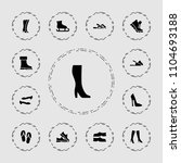 footwear icon. collection of 13 ... | Shutterstock .eps vector #1104693188