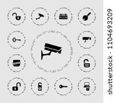 private icon. collection of 13... | Shutterstock .eps vector #1104693209
