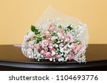 beautiful bouquet with pink... | Shutterstock . vector #1104693776