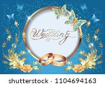 background with wedding golden...