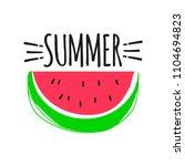summer fun sticker. watermelon... | Shutterstock .eps vector #1104694823