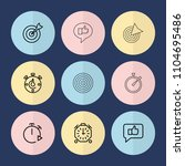 set of 9 accurate outline icons ...   Shutterstock .eps vector #1104695486