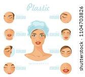plastic surgery. vector...   Shutterstock .eps vector #1104703826