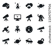 set of simple vector isolated... | Shutterstock .eps vector #1104707906
