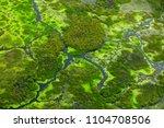 aerial landscape in okavango... | Shutterstock . vector #1104708506