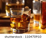 highball whiskey glass at bar...   Shutterstock . vector #110470910