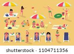 collection of people on the... | Shutterstock .eps vector #1104711356