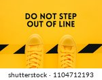 do not step out of line  person ... | Shutterstock . vector #1104712193