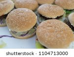 fast food on the table  | Shutterstock . vector #1104713000