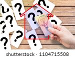 the solution to doubts ...   Shutterstock . vector #1104715508