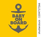 vector stickers anchor baby on... | Shutterstock .eps vector #1104717266