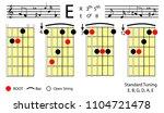 guitar chords. e major basic...   Shutterstock .eps vector #1104721478