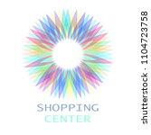 colorful flower logo  symbol ... | Shutterstock .eps vector #1104723758