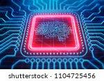 creative circuit brain banner... | Shutterstock . vector #1104725456