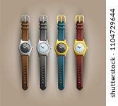 multicolored wrist watch | Shutterstock .eps vector #1104729644