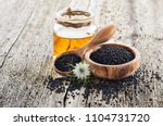 Black Cumin Oil With Flower On...