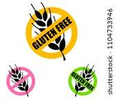 gluten free label vector.... | Shutterstock .eps vector #1104733946
