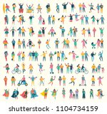 super set with vector... | Shutterstock .eps vector #1104734159