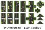 road infographic. set of sites... | Shutterstock .eps vector #1104735899