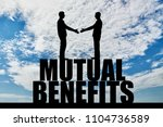 silhouette two men are going to ...   Shutterstock . vector #1104736589