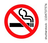 no smoking sign   Shutterstock .eps vector #1104737576