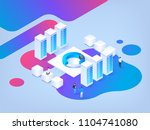 abstract isometric illustration.... | Shutterstock .eps vector #1104741080