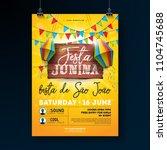 festa junina party flyer... | Shutterstock .eps vector #1104745688