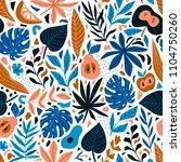 cute trendy design for fabric ... | Shutterstock .eps vector #1104750260