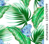 tropical palm leaves  jungle... | Shutterstock .eps vector #1104752999
