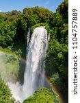 marmore falls  cascata delle...   Shutterstock . vector #1104757889