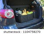black bag basket full of...   Shutterstock . vector #1104758270