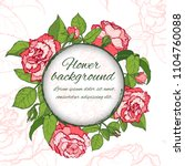 floral background. hand drawn... | Shutterstock .eps vector #1104760088