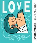 couple in love  young man... | Shutterstock . vector #1104760400