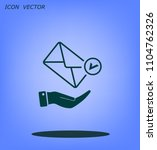 mail envelope on the hand  mail.... | Shutterstock .eps vector #1104762326