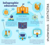 colorful infographic education... | Shutterstock .eps vector #1104762566