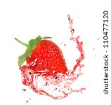 Strawberry In Water Splash