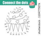 connect the dots children... | Shutterstock .eps vector #1104775076