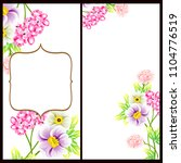 invitation with floral... | Shutterstock . vector #1104776519