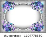 illustration of abstract floral ... | Shutterstock . vector #1104778850