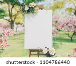 wedding board mockup | Shutterstock . vector #1104786440
