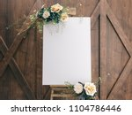 wedding board mockup | Shutterstock . vector #1104786446