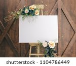 wedding board mockup | Shutterstock . vector #1104786449