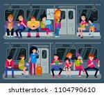 subway vector people in metro... | Shutterstock .eps vector #1104790610