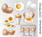 egg vector healthy food... | Shutterstock .eps vector #1104790763