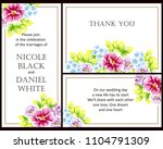 romantic invitation. wedding ... | Shutterstock . vector #1104791309