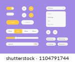 vector white ui kit set. vector ...