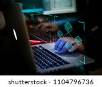 digital crime by an anonymous... | Shutterstock . vector #1104796736