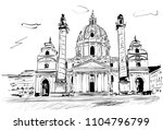 vienna in the sunny day | Shutterstock .eps vector #1104796799