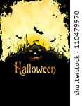 grungy halloween background... | Shutterstock .eps vector #110479970
